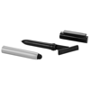 Robo stylus ballpoint pen with screen cleaner in silver-and-black-solid