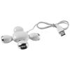 Yoga 4-port flexible USB hub in white-solid