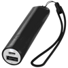 Beam power bank with lanyard and light 2200mAh in black-solid