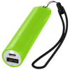 Beam power bank with lanyard and light 2200mAh in lime
