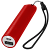 Beam power bank with lanyard and light 2200mAh in red