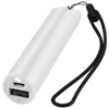 Beam power bank with lanyard and light 2200mAh in white-solid