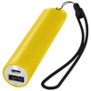 Beam power bank with lanyard and light 2200mAh in yellow