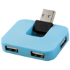 Gaia 4-port USB hub in blue
