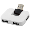 Gaia 4-port USB hub in white-solid