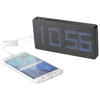 PB-8000 LED Display Power bank with Clock in black-solid-and-grey