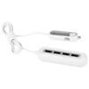 4 Ports QC 3.0 Car Charger in white-solid