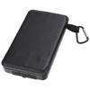 Cosmic 8,000 mAh Solar Power Bank with Dual Panels in black-solid