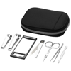 Groomsby 7-piece personal care set in black-solid