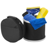 6- piece car wash kit in black-solid