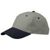 Grip 6 panel cap in grey-and-navy