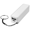 Jive 2000 mAh power bank in white-solid