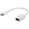 USB Type-C Adapter Cord in white-solid