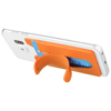 Stue silicone smartphone stand and wallet in orange