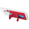Stue silicone smartphone stand and wallet in red