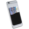 Slim card wallet accessory for smartphones in black-solid