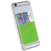 Slim card wallet accessory for smartphones in lime