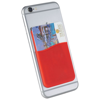 Slim card wallet accessory for smartphones in red