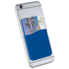 Slim card wallet accessory for smartphones in royal-blue