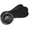 Fish-eye smartphone camera lens with clip in black-solid