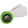 Fish-eye smartphone camera lens with clip in lime
