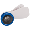 Fish-eye smartphone camera lens with clip in royal-blue