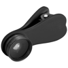 Optic wide-angle and macro smartphone camera lens in black-solid