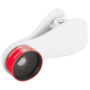 Optic wide-angle and macro smartphone camera lens in red