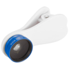 Optic wide-angle and macro smartphone camera lens in royal-blue