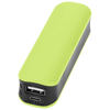 Edge 2000 mAh power bank in lime-green-and-black-solid