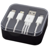 Tril 3-in-1 Charging Cable in Case in black-solid
