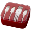 Tril 3-in-1 Charging Cable in Case in red