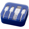 Tril 3-in-1 Charging Cable in Case in royal-blue