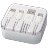 Tril 3-in-1 Charging Cable in Case in white-solid