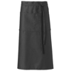 Skyla bartender apron in black-solid