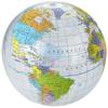 Globe transparent beach ball in transparent-and-multi-colou