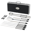 Suya 12-piece BBQ set in black-solid-and-silver