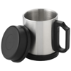 Barstow 290 ml vacuum insulated mug in silver-and-black-solid