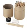 Woodby 26-piece coloured pencil set in wood