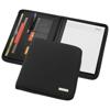 Stanford A4 zippered portfolio in black-solid