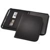 Berkely A4 zippered portfolio in black-solid