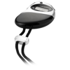 Ti-me stopwatch in black-solid-and-silver