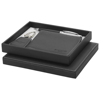 Ballpoint pen gift set in black-solid-and-silver