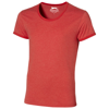 Chip short sleeve t-shirt. in heather-red