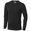 Curve long sleeve men's t-shirt in black-solid