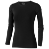 Curve long sleeve women's t-shirt in black-solid