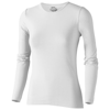 Curve long sleeve women's t-shirt in white-solid