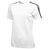 Baseline short sleeve ladies t-shirt. in white-solid-and-black-solid