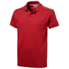 Backhand short sleeve Polo in red