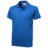 Backhand short sleeve Polo in sky-blue